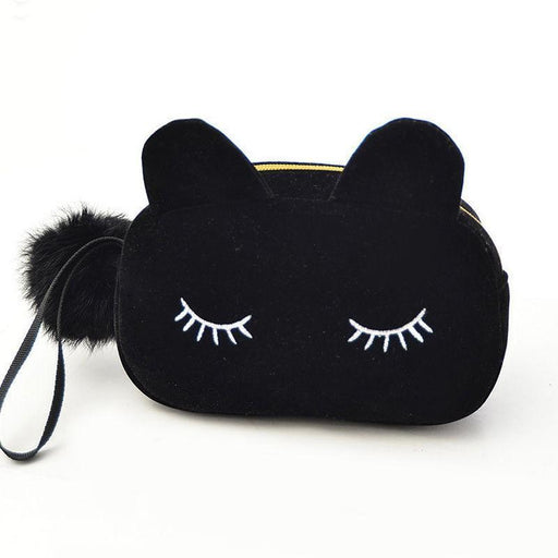 Cute Cat Cosmetic Bag-Boots N Bags Heaven
