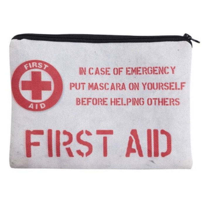 First Aid Emergency Make-Up Full-Print cute MakeUp Bag With Sayings-Boots N Bags Heaven
