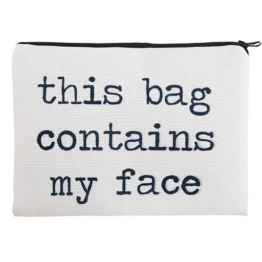 This Bag Contains My Face Full-Print cute MakeUp Bag With Sayings-Boots N Bags Heaven