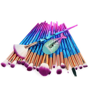 Cosmetic Set Of Colorful Mermaid Make-up Brush - Set Of Colorful Mermaid Make-up Brush