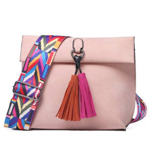Crossbody Bag Bohemian Tassel Aztec Messenger Bag - Bohemian Tassel Aztec Messenger Bag
