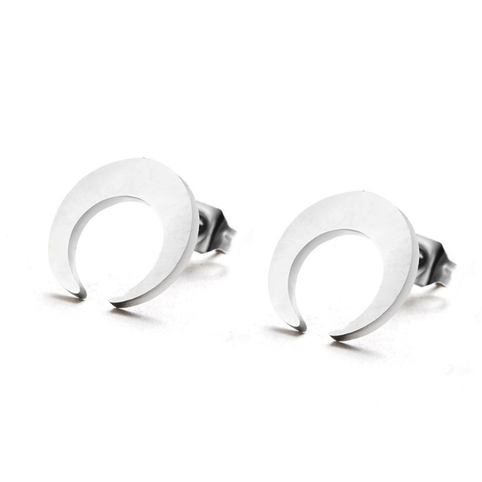Cute Stainless Steel Fashion Stud Earrings-Boots N Bags Heaven