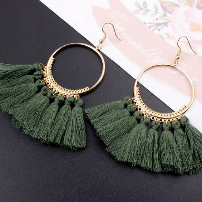 Bohemian Tassel Earrings-Boots N Bags Heaven
