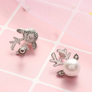 Earrings Jewelry Christmas Reindeer Christmas Pearl Earrings - Reindeer Christmas Pearl Earrings