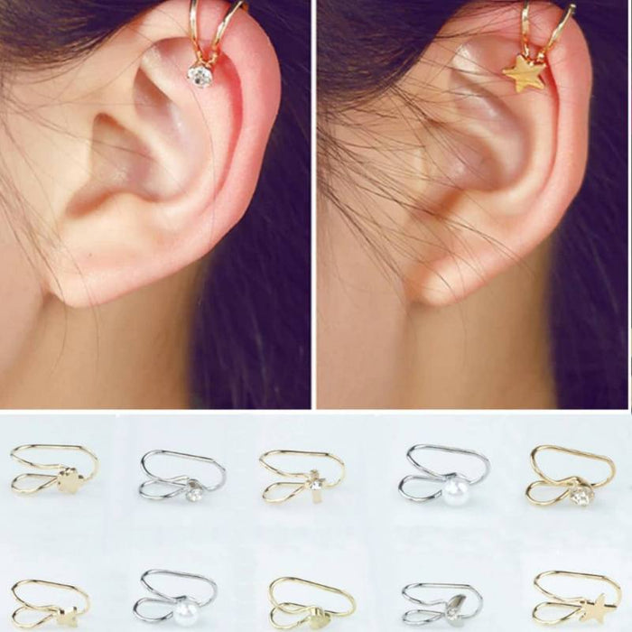Trend Setter Ear Cuff Earrings - Special Bundle-Boots N Bags Heaven