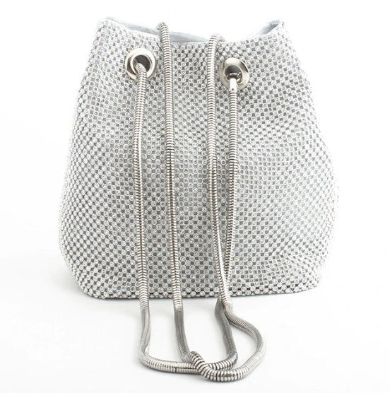 Elegant Diamond Bucket Bag - BNB HEAVEN™ - Elegant Bejeweled Rhinestone Bucket Bag