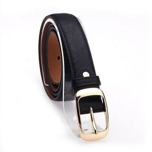 Fashion Faux Leather Slim Belt - Fashion Faux Leather Slim Belt