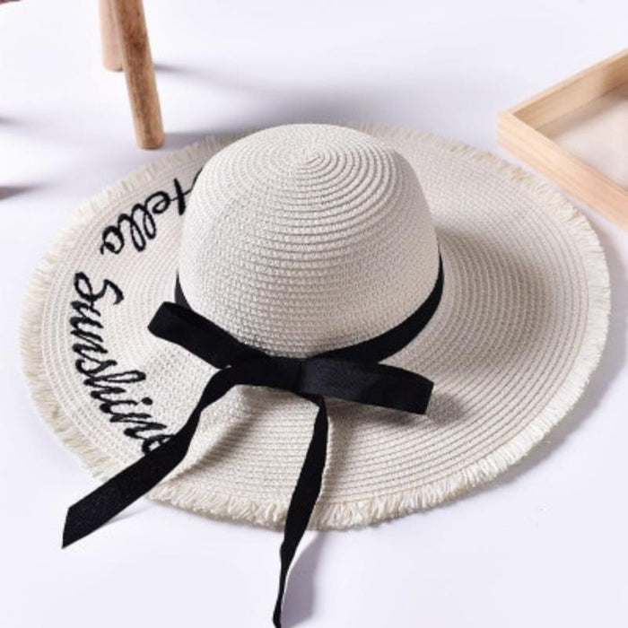 Hello Sunshine Native Wide Brim Beach Summer Hat-Boots N Bags Heaven