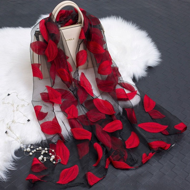 Fashionable Silky Scarf-Boots N Bags Heaven