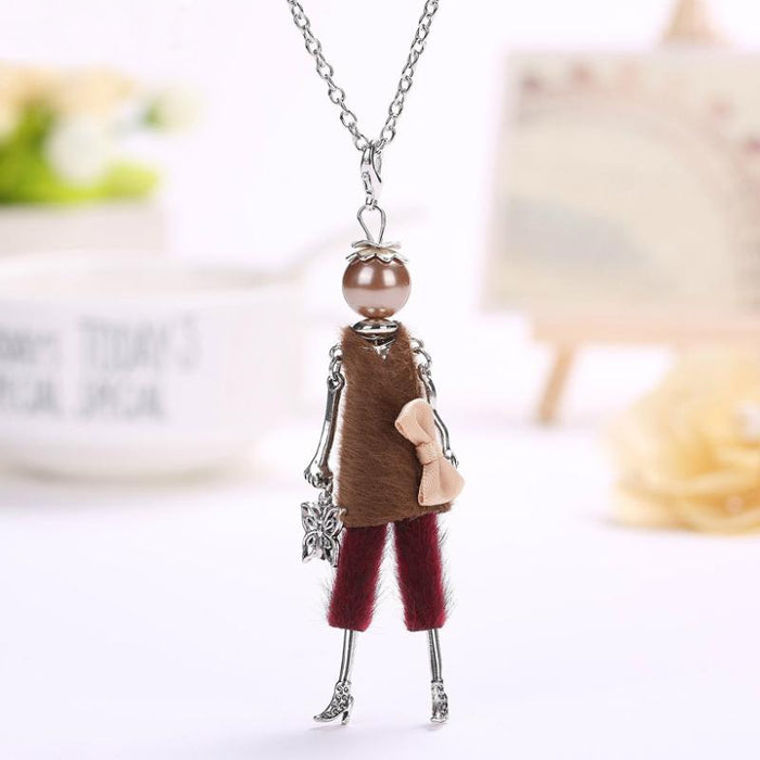 Fashionista Doll Beaded Necklace - Fashionista Doll Beaded Long Necklace