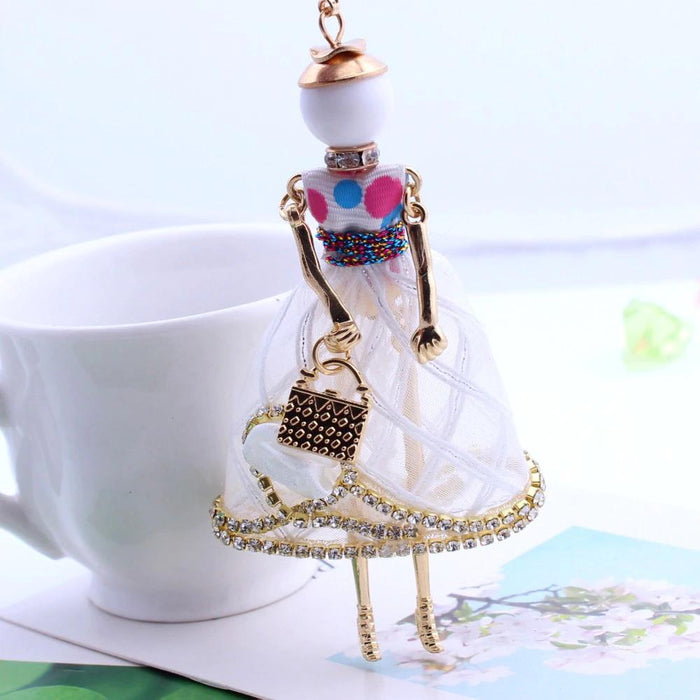 Fashionista Doll Bejeweled Long Necklace - Fashionista Doll Bejeweled Long Necklace