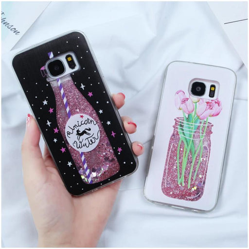 Fashionista Dynamic Glitter Phone Case for Samsung-Boots N Bags Heaven