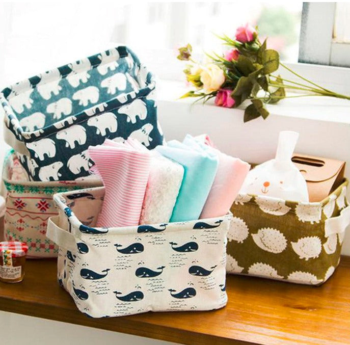 Foldable Linen Storage Basket-Boots N Bags Heaven