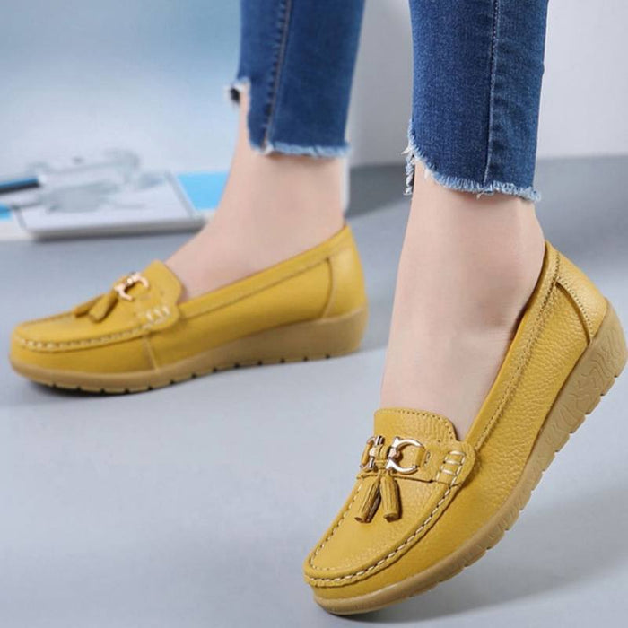 Classic and Simple Moccasin Boat Shoes-Boots N Bags Heaven
