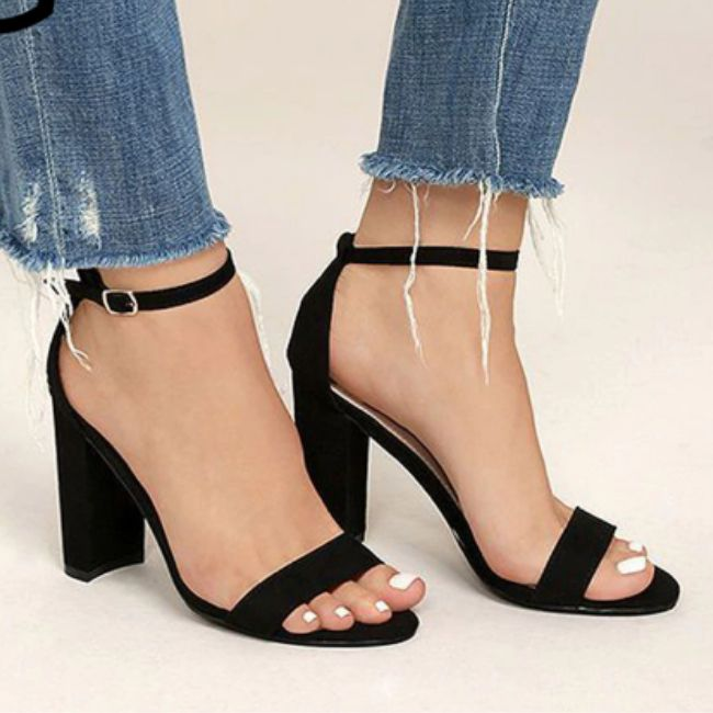 Trendy and Chic Ankle Strap High Heels