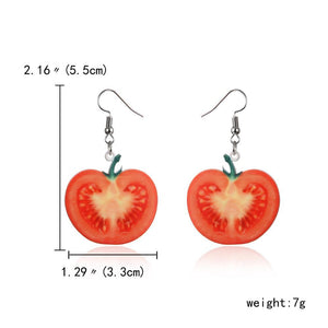 Fruit Salad Funky Earrings Fish Hook - Fruit Salad Funky Earrings