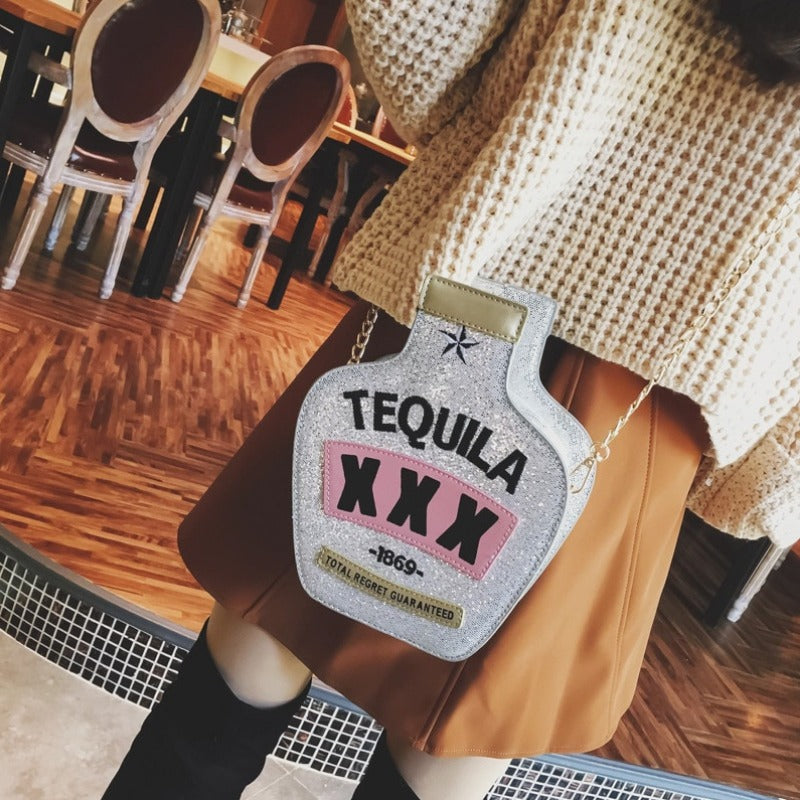 Fun Glitter Tequila Party Cross Body Bag-Boots N Bags Heaven