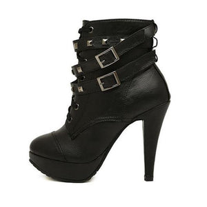 Gothic Boots - Double Buckle Gothic Boots