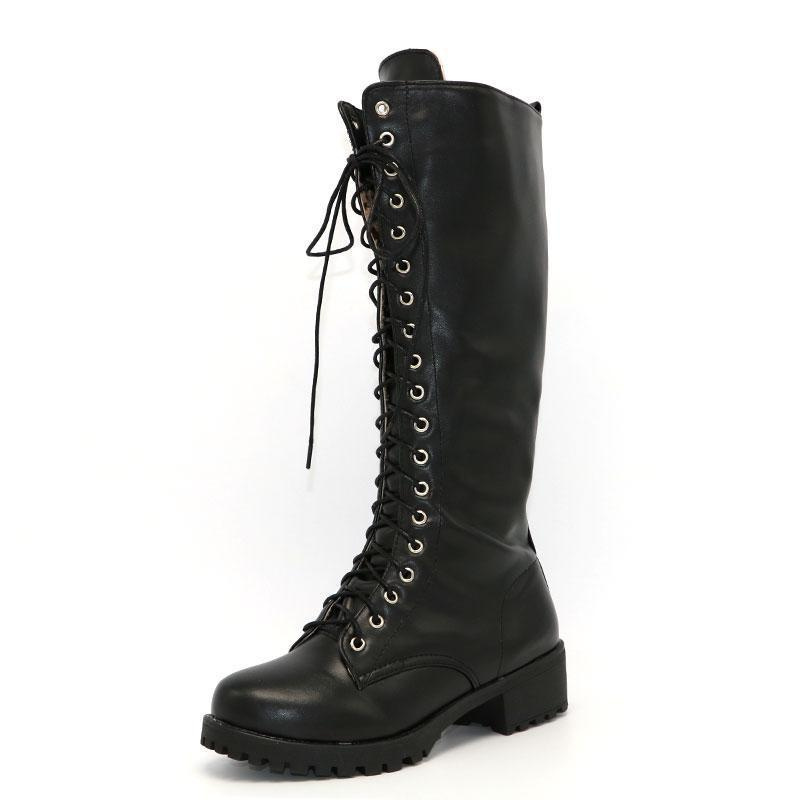 Knee High Gothic Boots-Boots N Bags Heaven