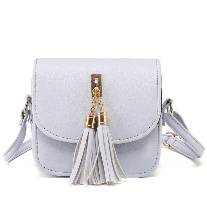 Candy Colored Handbag With Tassel Keychain-Boots N Bags Heaven