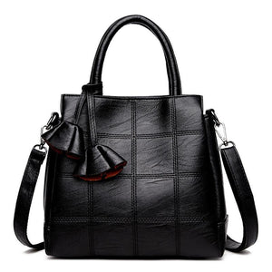 Handbags Faux Leather Crossbody Handbag - Faux Leather Crossbody Handbag