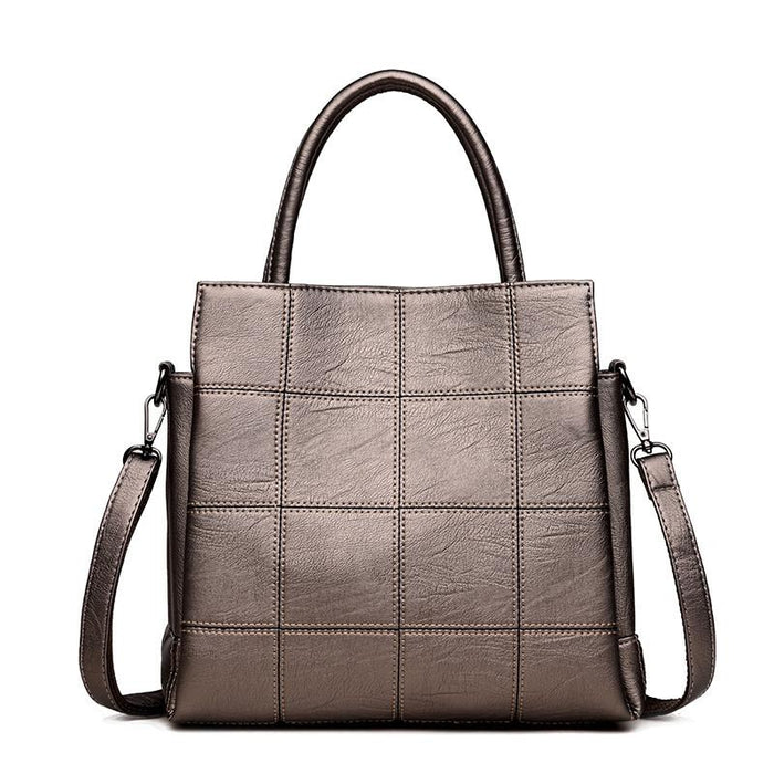 Faux Leather Crossbody Handbag-Boots N Bags Heaven