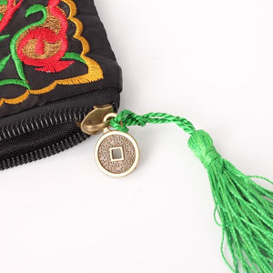 HandBags Retro And Ethnic Embroidered Flower Handbags With Tassel - Retro And Ethnic Embroidered Flower Handbags With Tassel