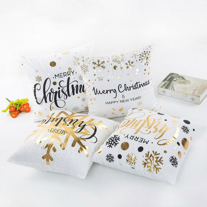 Silver and Gold Holiday Pillowcase-Boots N Bags Heaven