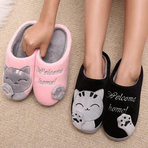 Indoor Slippers Winter Plush Cat Indoor Slippers - Winter Plush Cute Cat Indoor Slippers