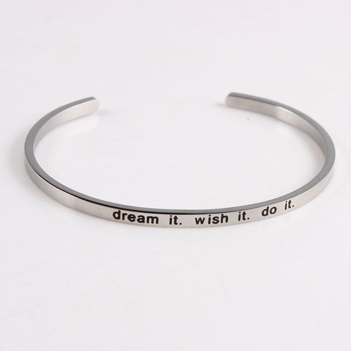 Inspirational and Mantra Quotes Bangles-Boots N Bags Heaven