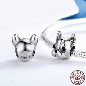 Jewelry Bracelet Stunning Sterling Silver French Bulldog Charm Bracelet - Stunning Sterling Silver French Bulldog Charm For Bracelet