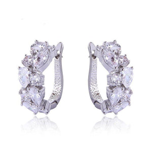 Jewelry Earrings Elegant And Luxurious Zirconia Crystal Hoop Earrings - Elegant And Luxurious Zirconia Crystal Hoop Earrings