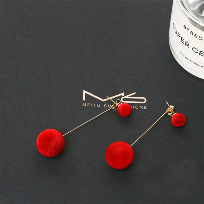 Long Chic Ball Drop Summer Earrings-Boots N Bags Heaven