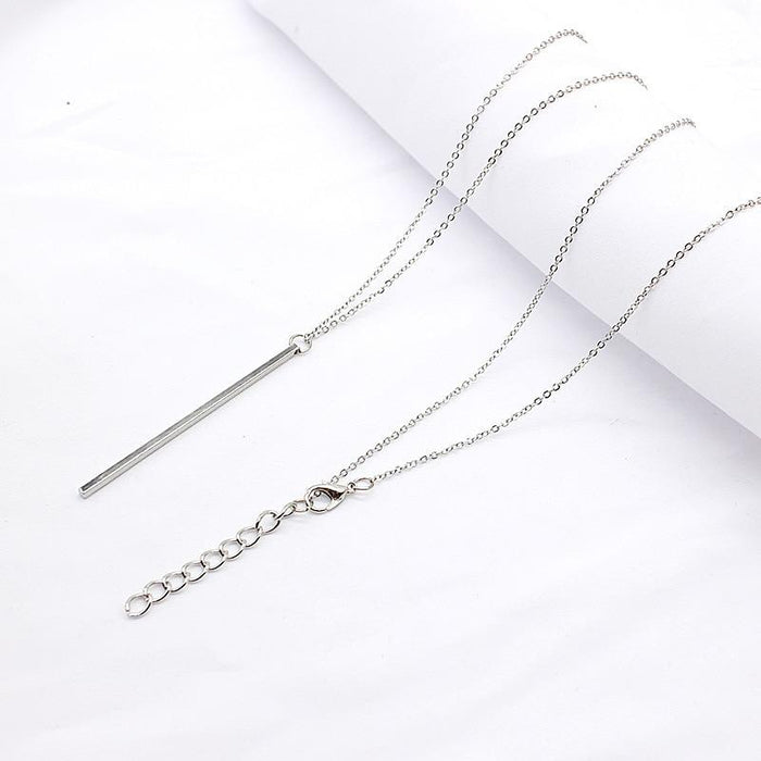 Minimalist Bar Drop Necklace-Boots N Bags Heaven