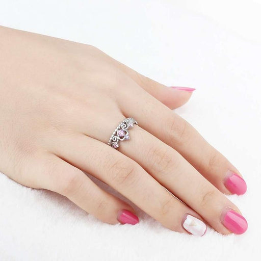 Sterling Silver Princess Crown Ring-Boots N Bags Heaven