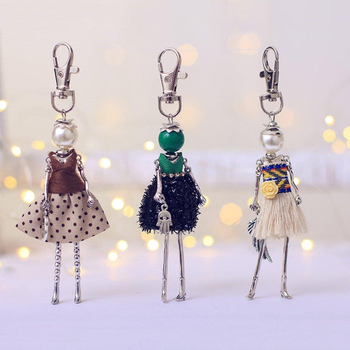 Key Chain Fashionista Key Chain Dolls - BNB Exclusive - Handmade Fashionista Keychain Dolls