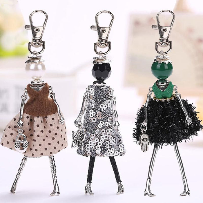 Handmade Fashionista Keychain Dolls - Limited Edition-Boots N Bags Heaven