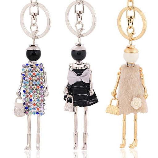 Key Chain Fashionista Key Chain Dolls - Handmade Tassel Fashionista Dress Keychain Dolls