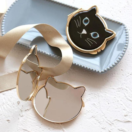 Kitty Cat Compact Make-Up Mirror-Boots N Bags Heaven