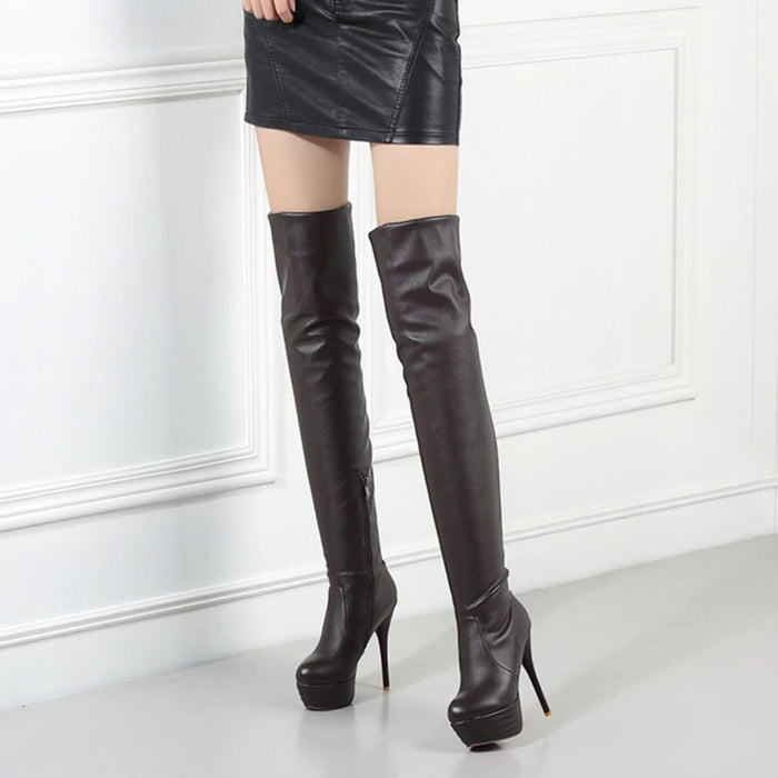 Knee High Boots Sexy Gothic Knee High Boots - Sexy Gothic Knee High Boots