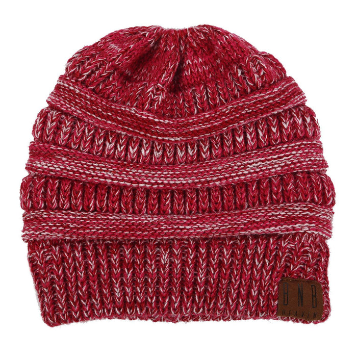 Limited Edition Crimson Ponytail Messy Bun Beanie Knitted Winter Hat - BNB Beanietail-Boots N Bags Heaven