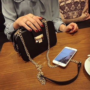 Little Black Chain Strap Shoulder Bag - Little Black Chain Strap Shoulder Bag