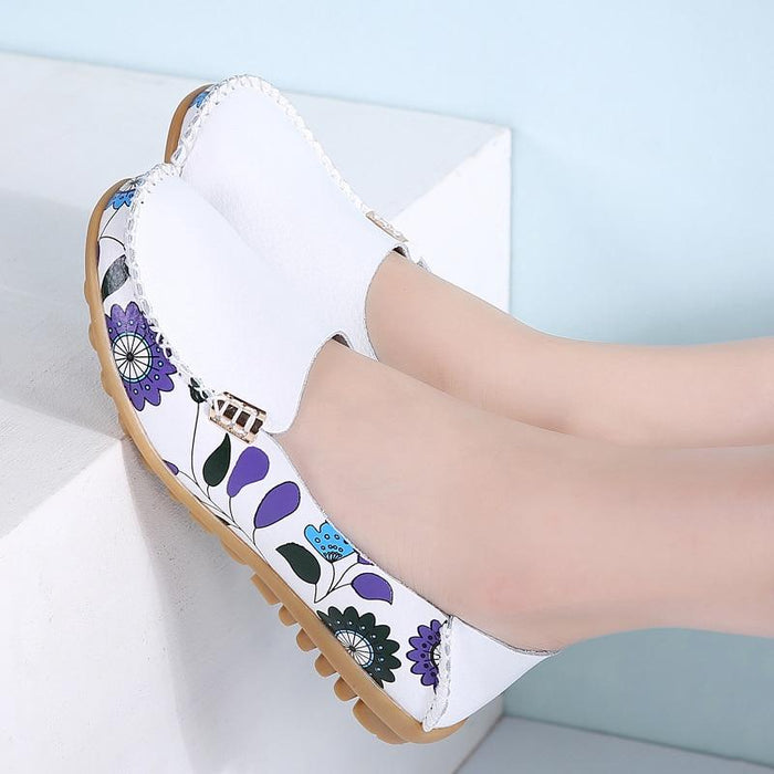 Slip-on Spring and Floral Loafers-Boots N Bags Heaven