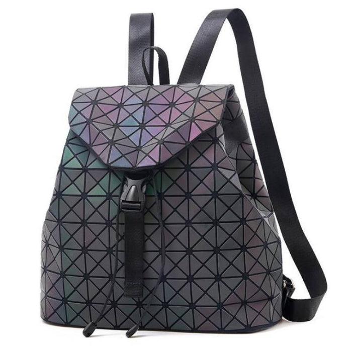Luminous Holographic Geometric Backpack-Boots N Bags Heaven