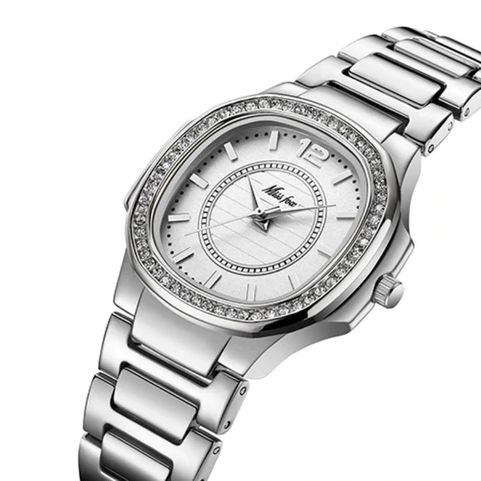 Luxurious Bejeweled Quartz Wrist Watch - Luxurious Bejeweled Quartz Wrist Watch