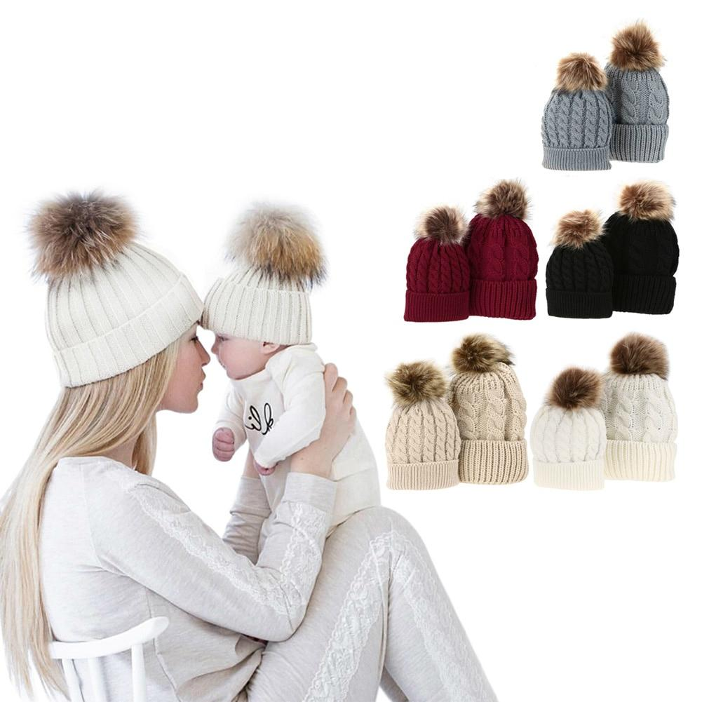 07ac74c4f8086 Mommy And Me Beanies Winter Hats Matching Knitted Beanies- Mother Daughter  Beanies