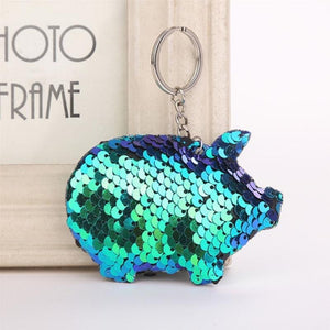 Mermaid Sequins Keychain For Bag - Mermaid Sequins Keychain