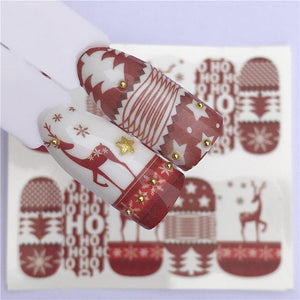 Nail Sticker Christmas Galore Holiday Themed Water Nail Art Decal - Christmas Galore Holiday Themed Water Nail Art Decal