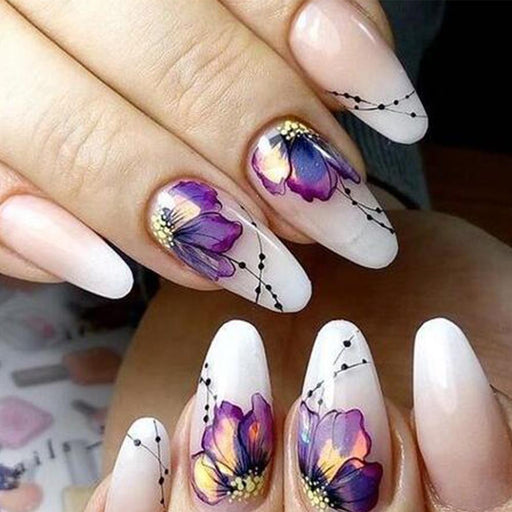 Flower Nail Sticker-Boots N Bags Heaven