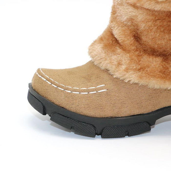 Winter Sexy Bohemian Boots Womens Plush Snow Boho Boots Furry Boots- Cute Winter Boots-Boots N Bags Heaven